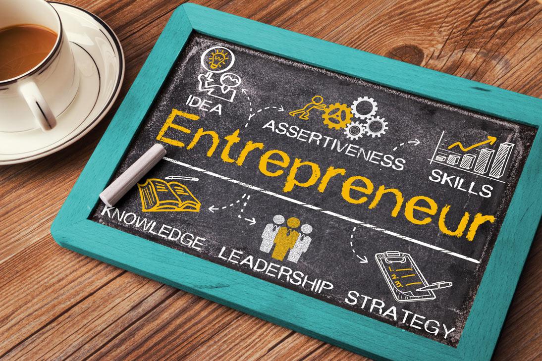Entrepreneurship chalkboard
